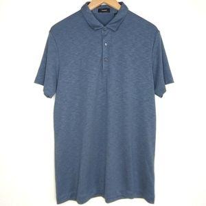 Theory Blue Short-Sleeve Polo Shirt